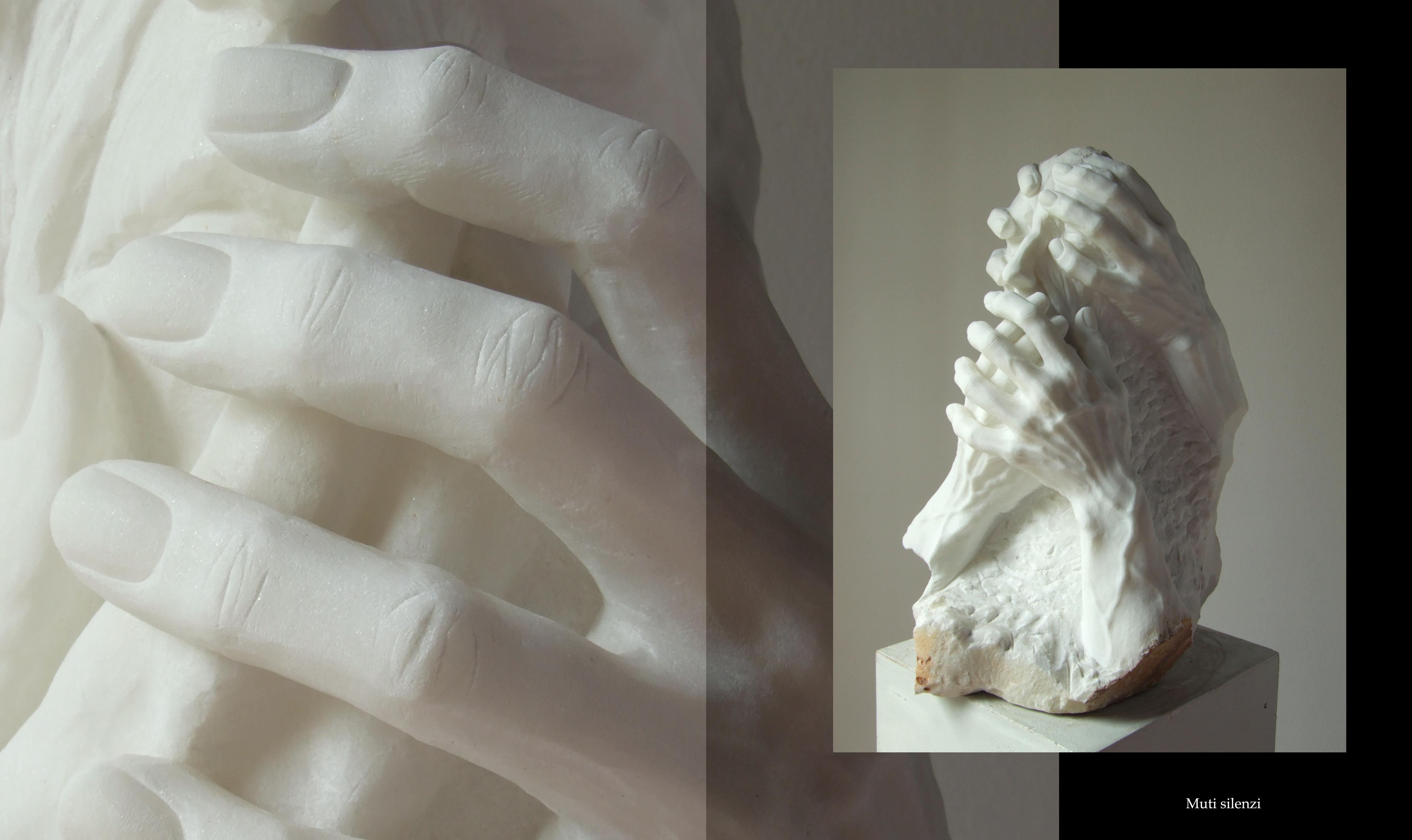Muti silenzi chini su di noi, marmo, collezione privata