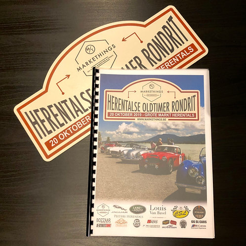 Roadbook + Rallyplaat Herentalse Oldtimer Rondrit 2019