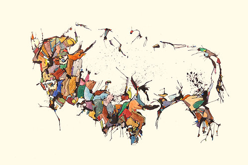 Bison Print-8.5 x 11 inches