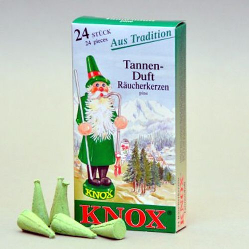 """#013-110 - Famous KNOX Brand """"Pine"""" Incense Cones - Box of 24"""