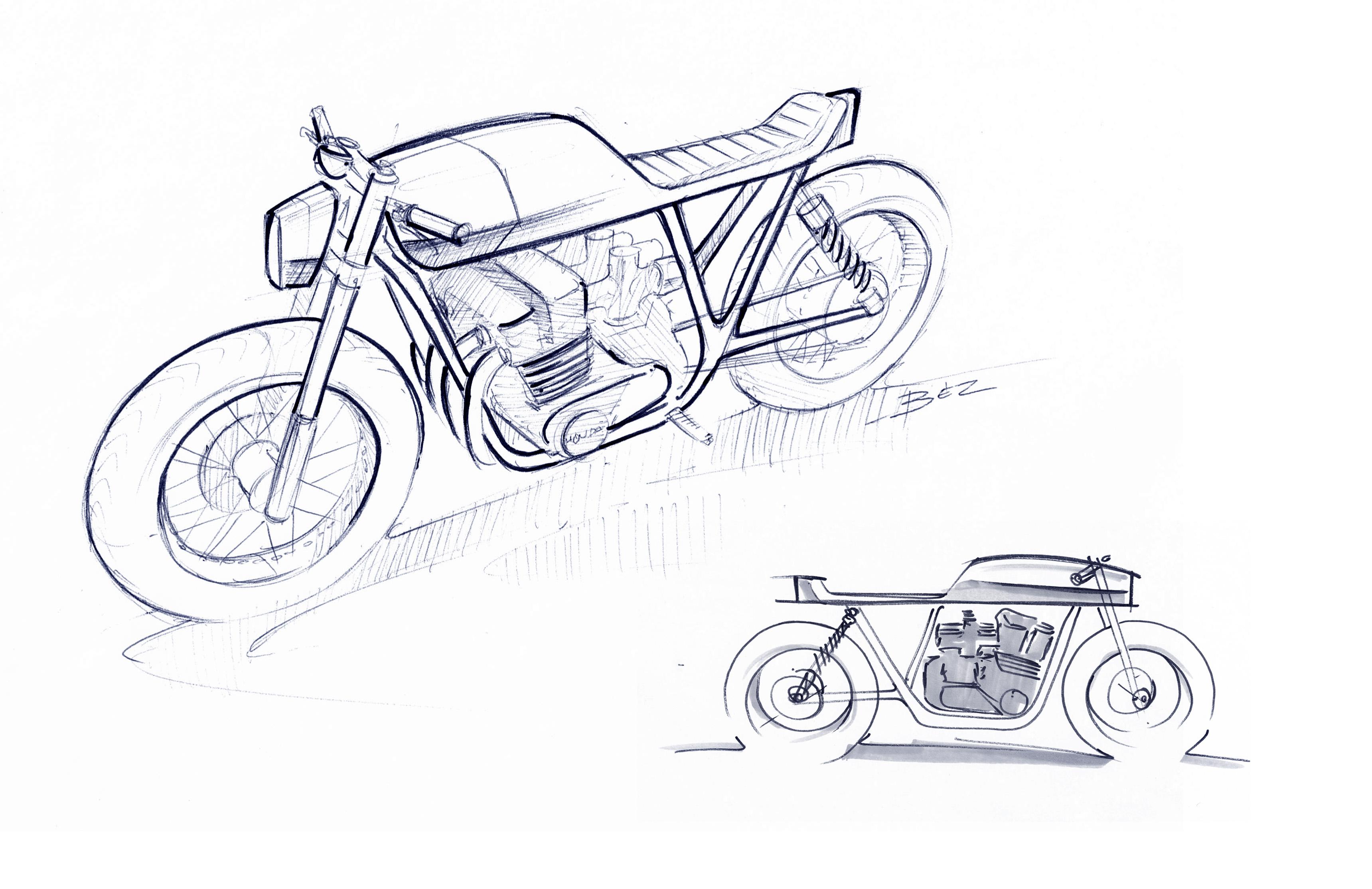Honda - CB1100 - Sketches