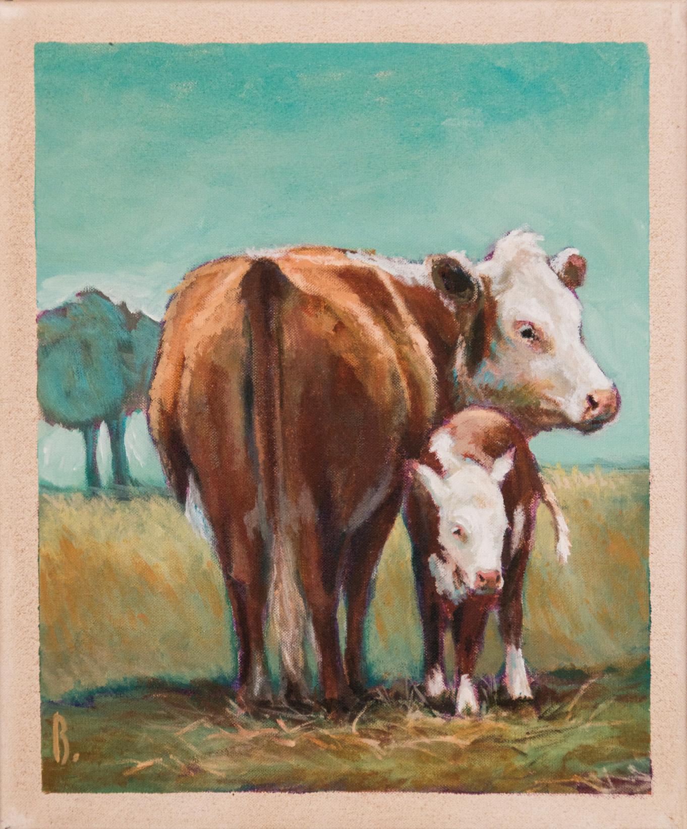 Montbeliarde et son veau