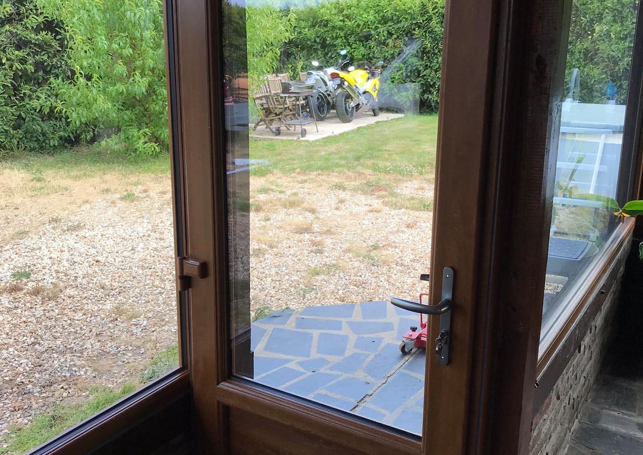 Porte vitrée posée à Canteleu