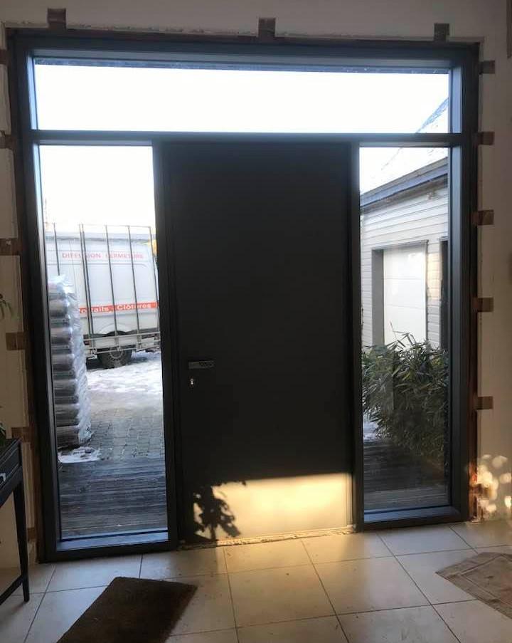 Porte d'entrée céramique posée à Bois-Guillaume