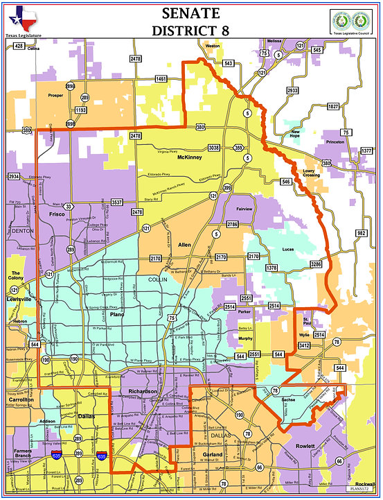 Map Of Texas Senate Districts.District 8 Texas Vote Brian Chaput