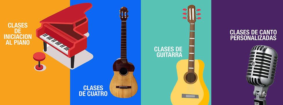 Instrumentos musicales y micrófono
