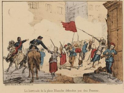 Si erigono barricate e si combatte nelle strade di Parigi