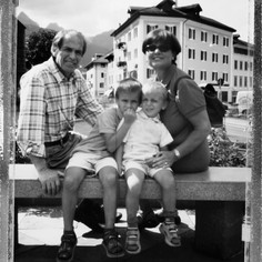 Il signor Vittorio con la sua famiglia