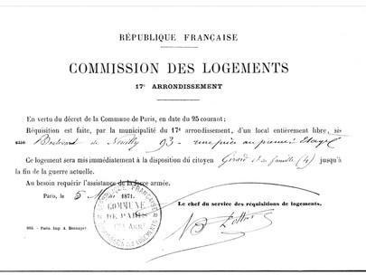 Requisizione degli alloggi sfitti a Parigi e cessate il fuoco a Neuilly
