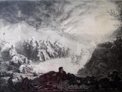 Fucilati ai piedi di un muro del cimitero di Père-Lachaise.