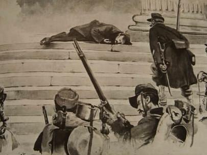 I comunardi vengono giustiziati anche con le mitragliatrici