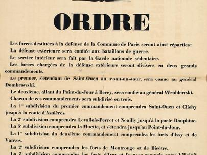 Riorganizzazione delle truppe della Guardia Nazionale della Commune de Paris