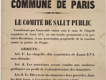 """La cappella detta """"expiatoire de Louis XVI"""" sarà distrutta"""
