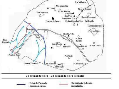 L'esercito di Versailles è penetrato in Parigi