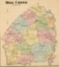 Mill Creek Hundred Map, Circa 1868