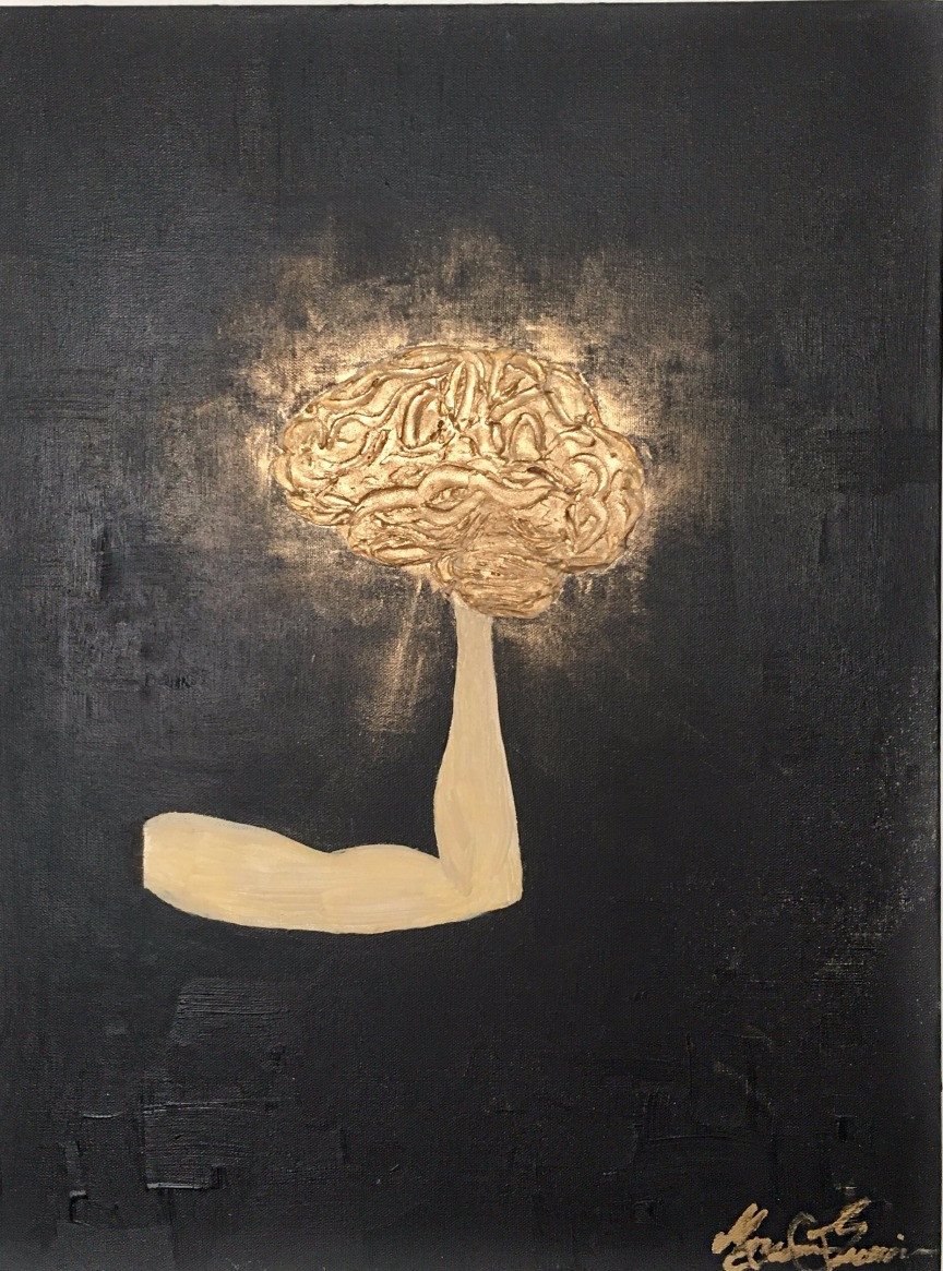 Knowledge is Power painting by Maryam Gueramian