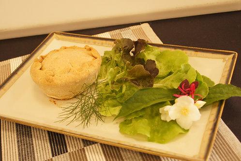 Tiella di grano saraceno, zucchine, ricotta e menta