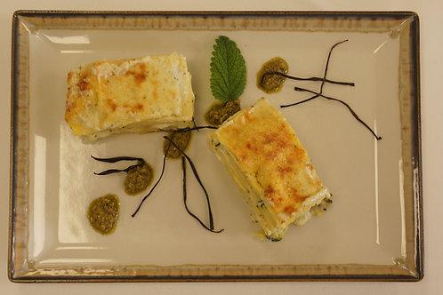 Lasagne alla Genovese con zucchine e crescenza