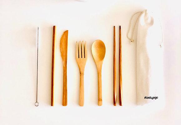 Bamboo Cutlery Set Everyday - Finished Bamboo