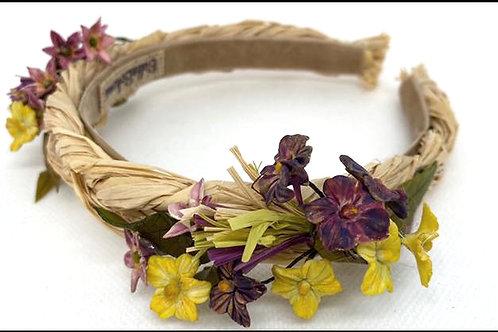 Diadema rafia flores colección Botanic