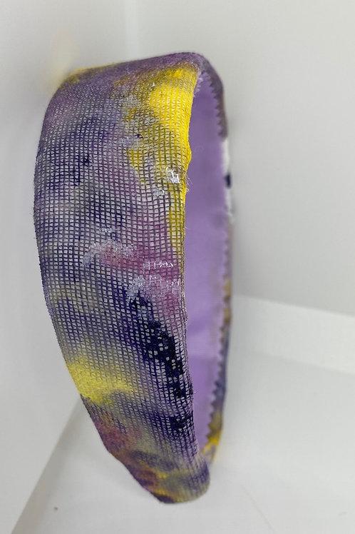 Diadema Rainbow tie-dye modelo Purple