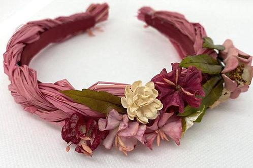 Diadema rafia flores