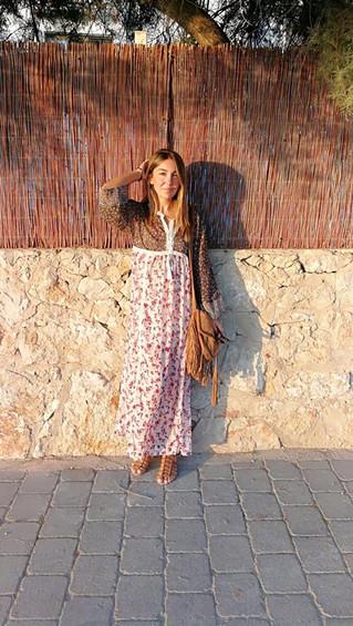 Puesta de sol con vestido de Primark.