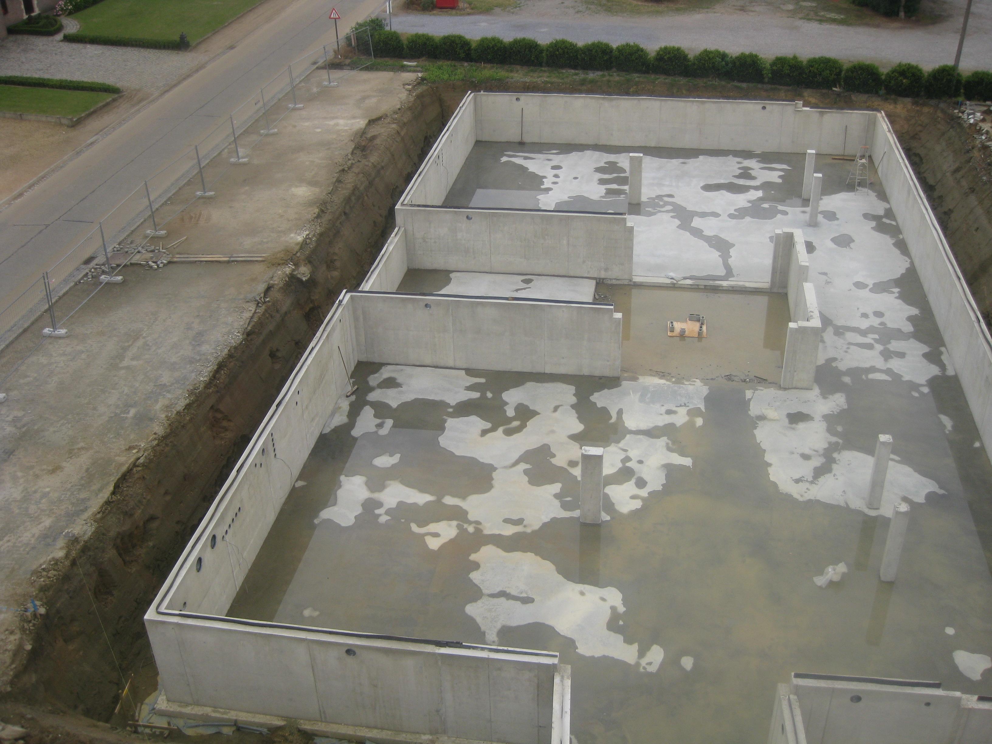 Betonkelder appartementsblok Gelrode