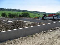 Betonwerken koeienstal te Hamoir