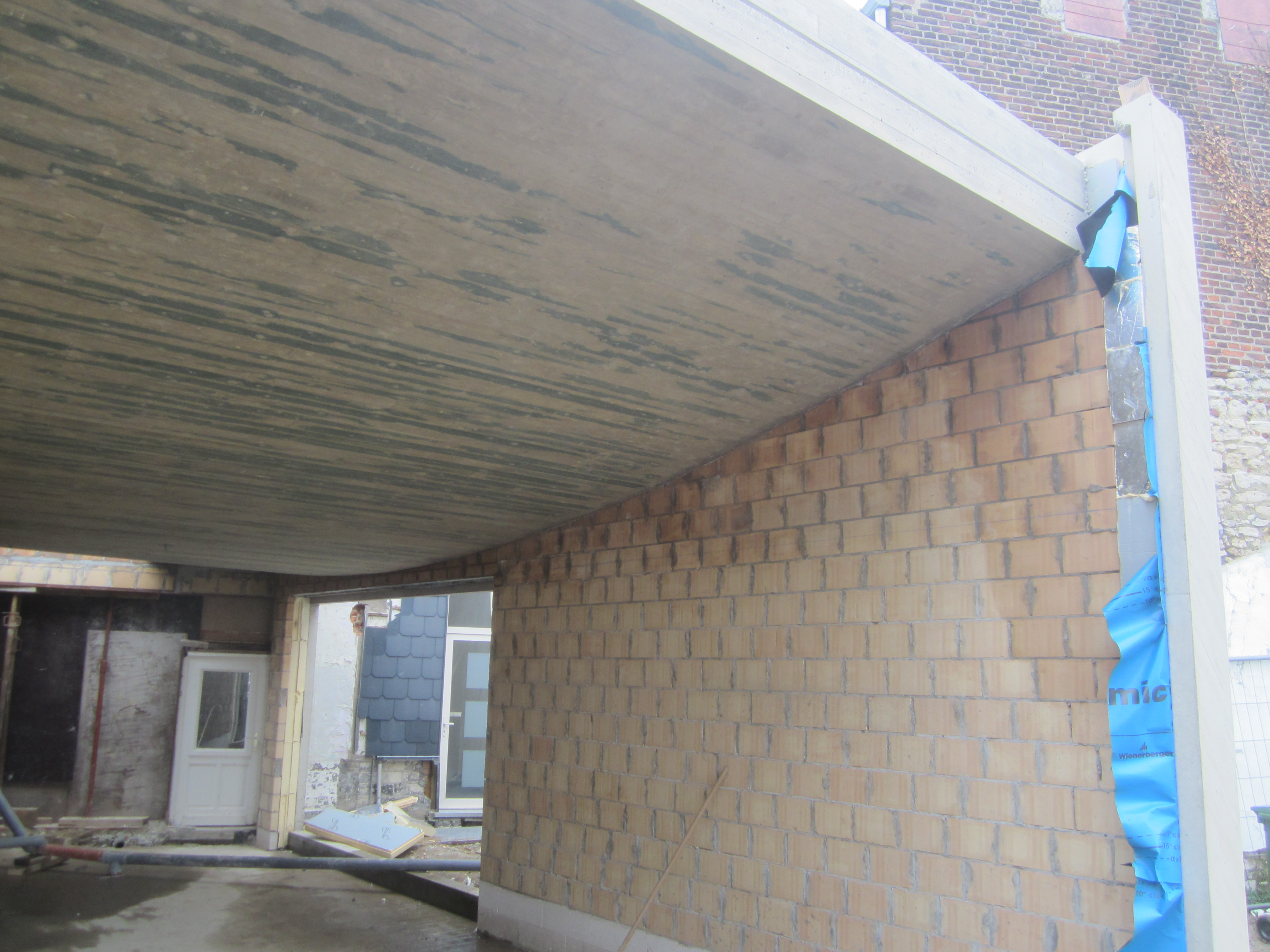 Gebogen Plafond in Beton