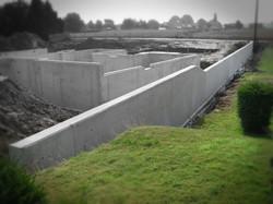 Waterdichte betonkelder te Elen