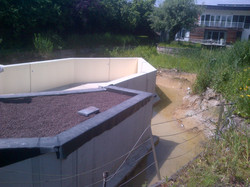 Betonwerken zwemvijver
