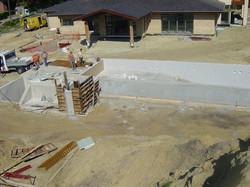 Betonwerken zwembad te Zolder