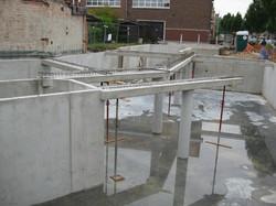 Betonkelder appartement Kampenhout