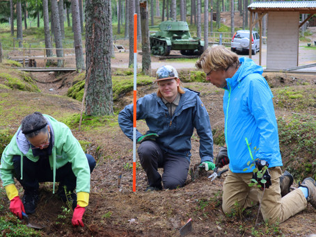 Excavating the WW2 battlefields of the Hanko front