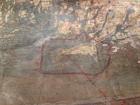 Soviet WW2 map case with full content discovered in Hanko