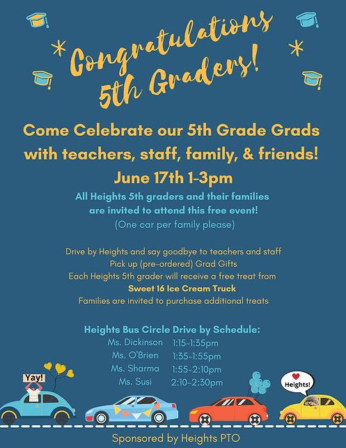 Celebration 2021 5th Grade Graduation  .