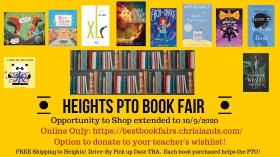 Book Fair, Open House, COVID Fund, and more news you could use!
