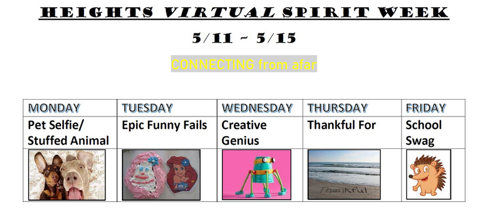 Spirit Week, Online Store, Sharon Speaks! and more news you could use!