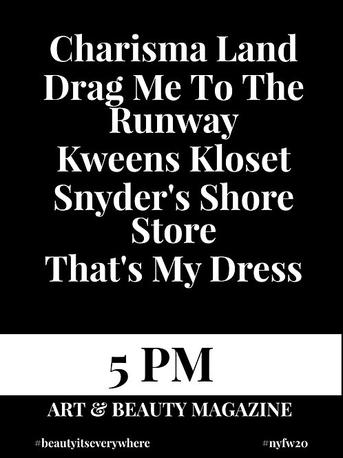 5PM - BEAUTY IT'S EVERYWHERE FASHION SHOW