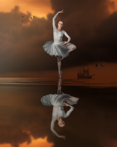 Dancer and reflection