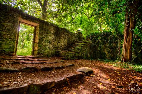 Landscape photography, ruins in Bretagne, France