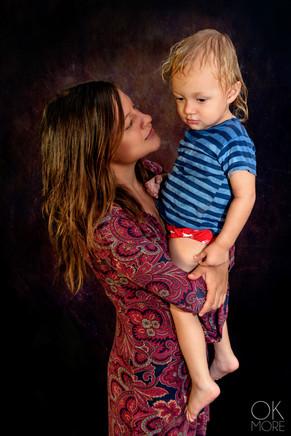fine art portrait, woman and child