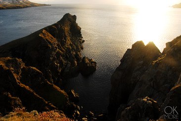 Travel photography destination Shetland island, Scotland cliffs sea north lerwick coast