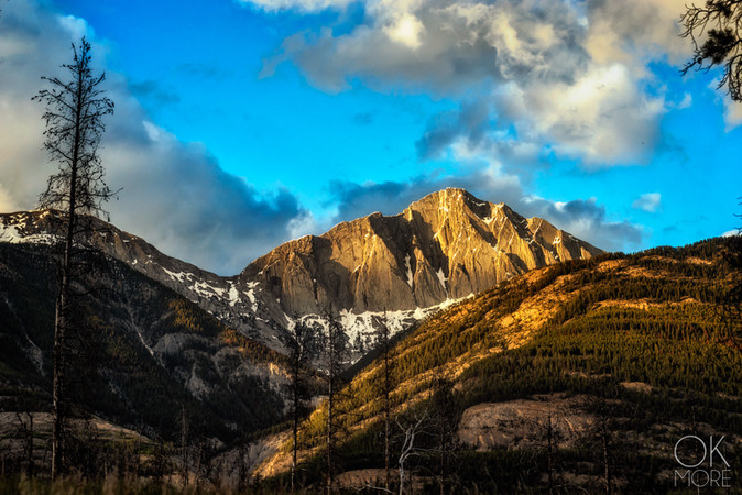 Travel photography, destination Canada Rockies, mountains at sunset