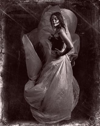 Creative portrait of a Catrina for dia de los muertos Fine art portrait