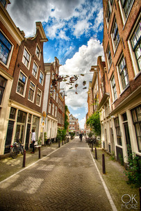 Landscape photography: Street in Amsterdam, Holland