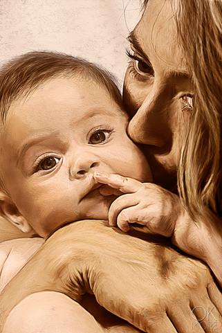 Motherhood, mother and child portrait.