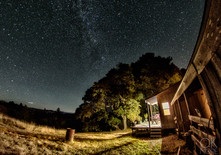 Travel photography destination California: humboldt night sky, milky way in the hills