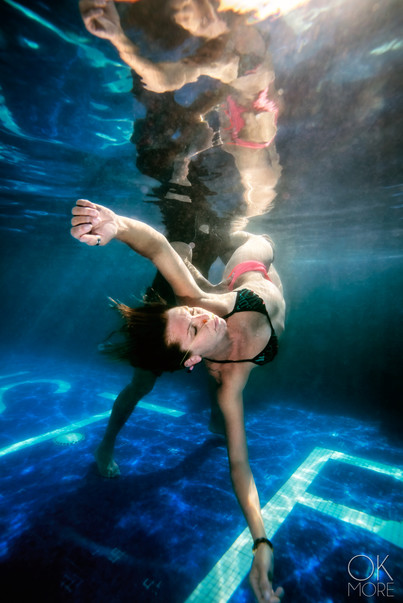 Commercial photography: aqua sana, underwater therapy, woman